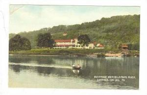 Canoe, Buckwood Inn & Delaware River, Shawnee-On-Del., Pennsylvania, PU-1915