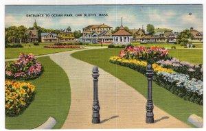 Oak Bluffs, Mass, Entrance To Ocean Park