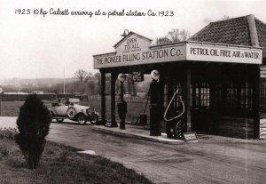 UK - England, Devon. 1923 10HP Calcott at Petrol Sta. circa 1923  (Photo Repr...