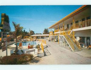 Pre-1980 OLD CARS & ROYAL PALM MOTEL Clearwater Florida FL s8903