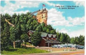 US unused 'golden oldie', Castle Rock, St Ignace, Michigan 1940's