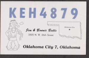 CB QSL Card - Jim & Bonnie Butts Oklahoma City, Oklahoma