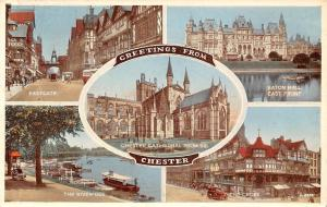 Chester, Eastgate The River Dee Boats Chester Cathedral Eaton Hall The Cross