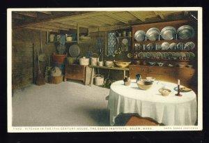 Salem, Massachusetts/MA Postcard, Kitchen In The Essex Institute