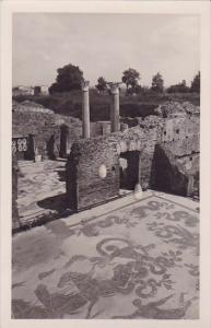Italy Ostia Antica Terme Mosaico Del Nettuno Real Photo