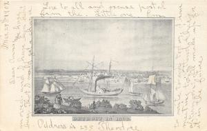 Detroit Michigan~Waterfront View (1820)~People & Ships/Boats~Detroit News Pc
