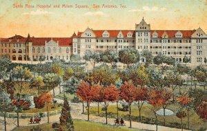 SAN ANTONIO TX~SAN ANTONIO SANTA ROSA HOSPITAL~1910 GEORGE BEARCE PUBL POSTCARD