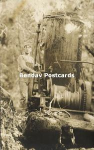 Washington, Lumber Machinery, Logging Lumbering (1910s) RPPC (2)