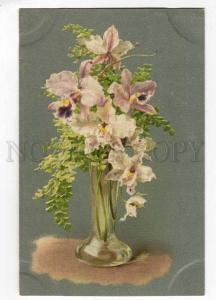 256932 C. KLEIN Vase Flowers ORCHID vintage RUSSIA Silver PC
