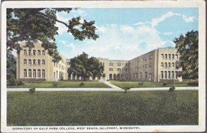 Gulfport MS - DORMITORY at the Gulf Park College at West Beach 1920s