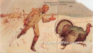 Mechanical Thanksgiving Postcard Advertising Lemp Falstaff Beer