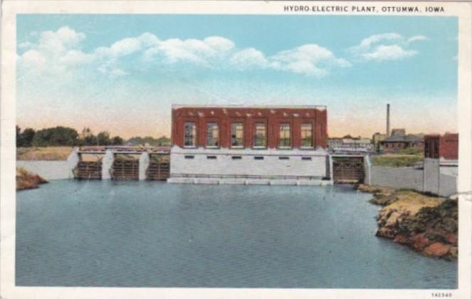 Iowa Ottumwa Hydro-Electric Plant Curteich