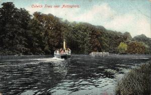 Colwick Trees Near Nottingham River Boat Postcard