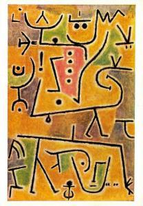 Vintage Art Postcard, The Red Waistcoat (1938) by Paul Klee 63T