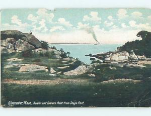 Pre-1907 EASTERN POINT FROM STAGE FORT Gloucester Massachusetts MA A1345