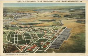 Shreveport LA Barksdale Field Aeril View Linen Postcard