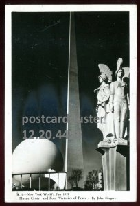 4498 - NEW YORK 1939 World's Fair. Four Victories of Peace. Real Photo Postcard