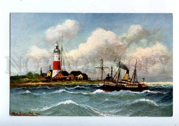 173828 GERMANY Kiel Fohrde LIGHTHOUSE Vintage postcard