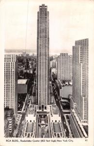 NEW YORK CITY~RCA BUILDING~ROCKEFELLER CENTER~REAL  PHOTO POSTCARD 1944