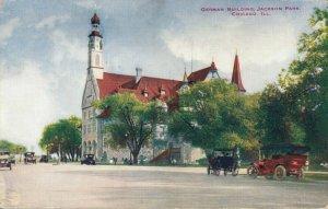USA German Building Jackson Park Chicago Postcard 03.65
