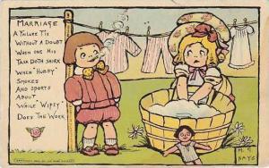 M G Hays Marriage Children Washing Clothes