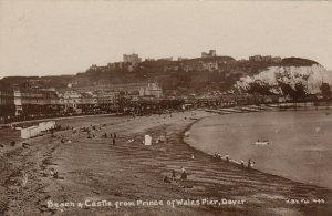 RP: DOVER , Kent , England , 1900-10s ; Beach & Castle