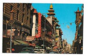 San Francisco CA Chinatown Grant Avenue Stores The Gray Line California Postcard
