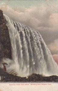 New York City Niagara Falls American Falls From Below Greeting From Niagara F...