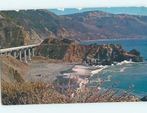 Pre-1980 LIMEKILN CREEK BRIDGE Between Big Sur & Morro Bay California CA H8518