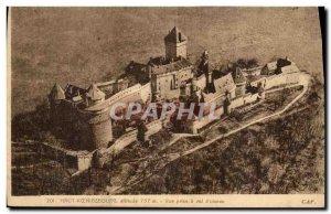 Postcard Old Hochkönigsburg view has taken a straight line
