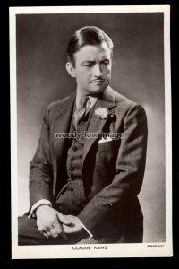 b1638 - Film Actor - Claude Rains - Picturegoer No. 917 - postcard