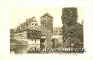 Nurnberg Germany, Deutschland Postcard Henkertrum mit Weinstadel  Henkertrum ...