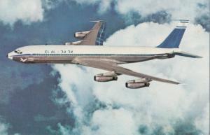 ELAL, Israel Airlines, Boeing 707, 1960s unused Postcard