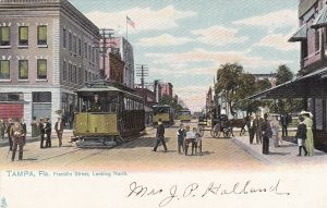 Florida Tampa Trolleys On Franklin Street Looking North sk5908