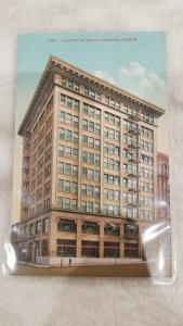 Antique Postcard, 2282 Corbett Building, Portland, Oregon