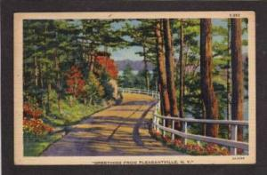 NY Greetings from PLEASANTVILLE NEW YORK PC Postcard