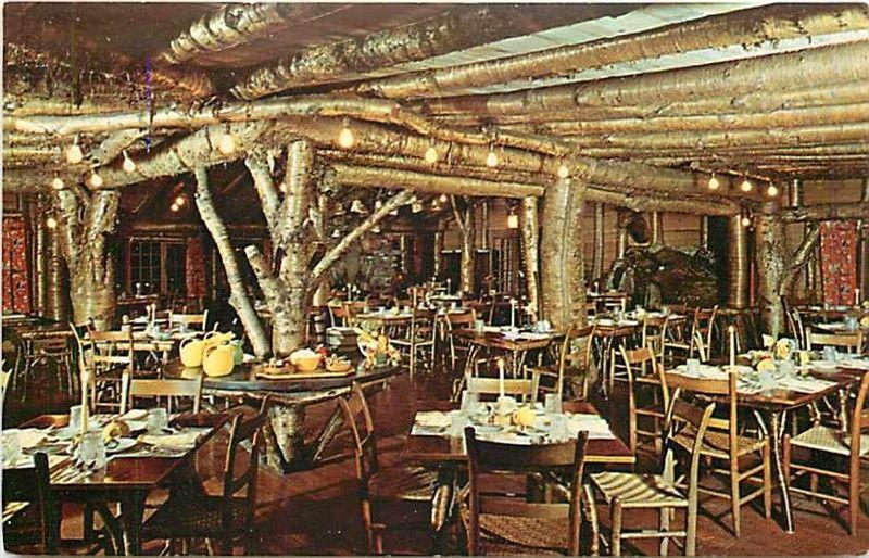 VT, Rutland, Vermont, Long Trail Lodge, Rustic Dining Room, Dexter Press 97391