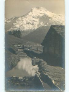 old rppc WASENHORN MOUNTAIN Rosswald Near Ried-Brig - Valais Switzerland i2808