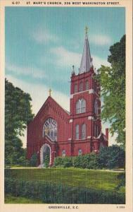 Saint Marys Church 338 West Washington Street Greenville South Carolina