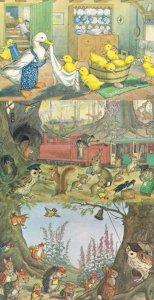 Ducklings Bath Trip Catching The Train School Time 3x Medici Postcard s