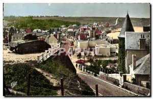 Modern Postcard Port Arromanches Bains de la Liberation Vue Generale Tank