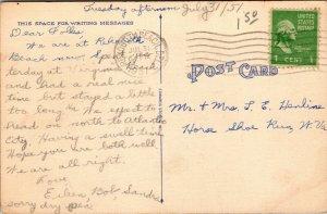 Vtg 1950s Boardwalk and Beach Rehoboth Delaware DE Postcard