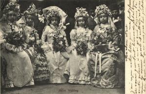 south africa, Native Malay Wedding (1905) Postcard