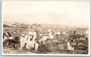 1910s Mexico RPPC Photo Postcard Bird's-Eye View of City - Location Unknown