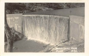 LP13  Shady Lake Dam Mena Arkansas  RPPC Postcard