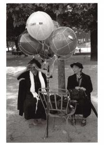 Postcard Ballon Seller, Paris, France by Sam Tata #55214