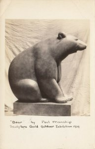 RP: Carved Bear by Paul Manship , 1920-30s