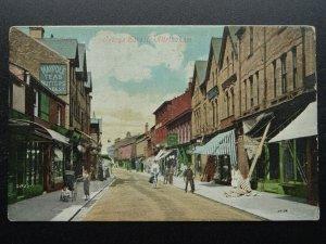 Trafford ALTRINCHAM George Street showing MAYPOLE TEAS & BUTTERS c1906 Postcard