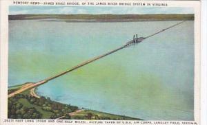 Virginia Newport News James River Bridge 1935