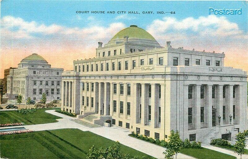 IN, Gary, Indiana, Court House, City Hall, E.C. Kropp No. 4533